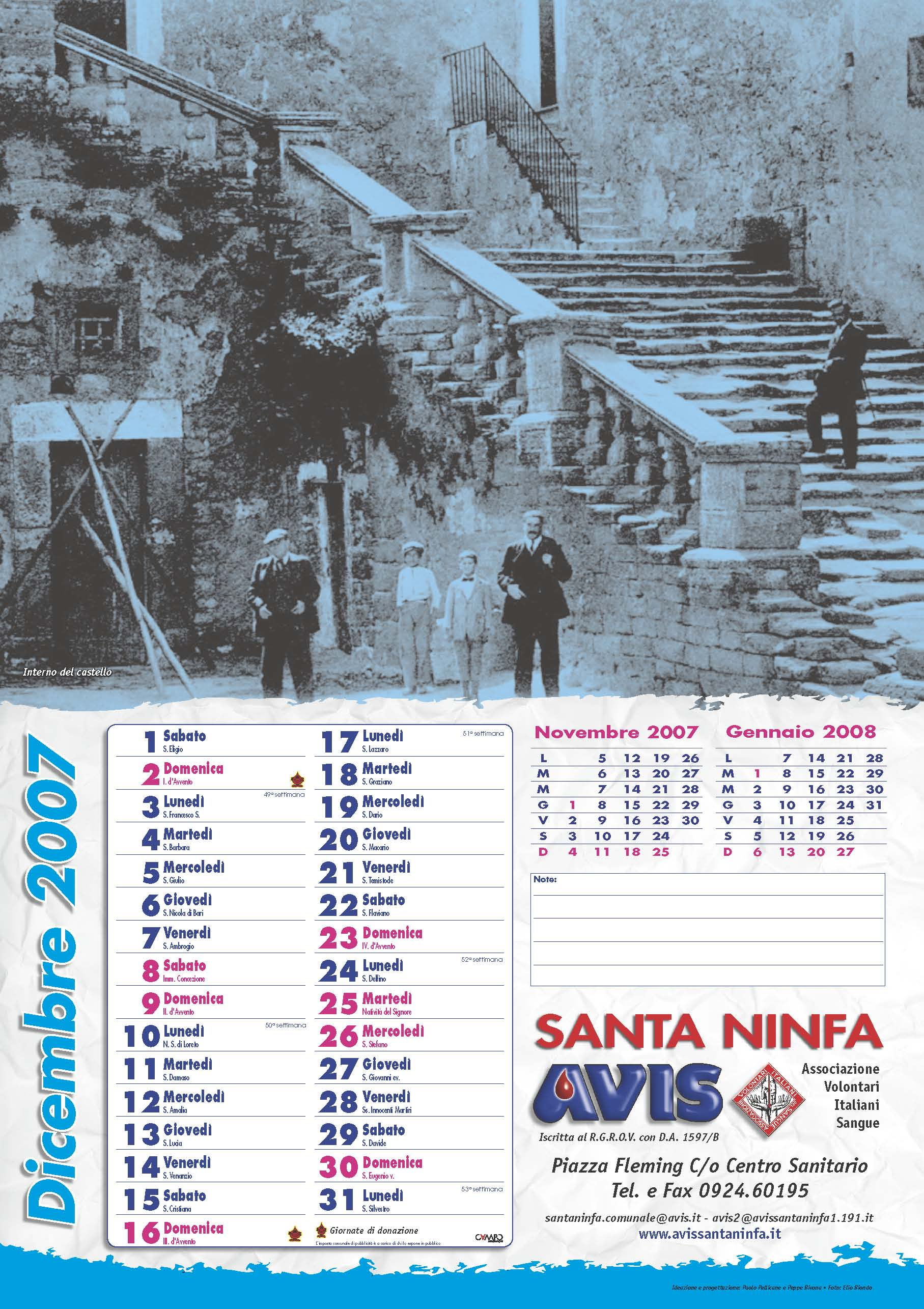 Calendario Avis.Calendario Avis 2007 Avis Santa Ninfa